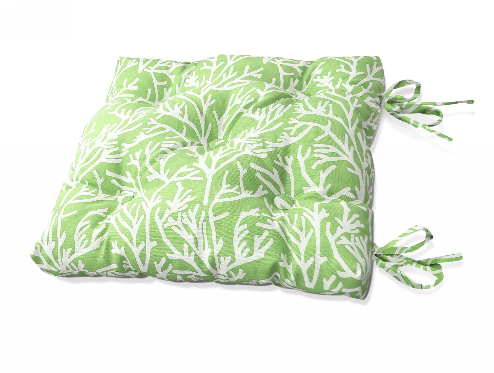 купить Подушки на стул Kauffort Подушка на стул Corals - S Цвет: Зеленый (50х50) по цене 1190 рублей