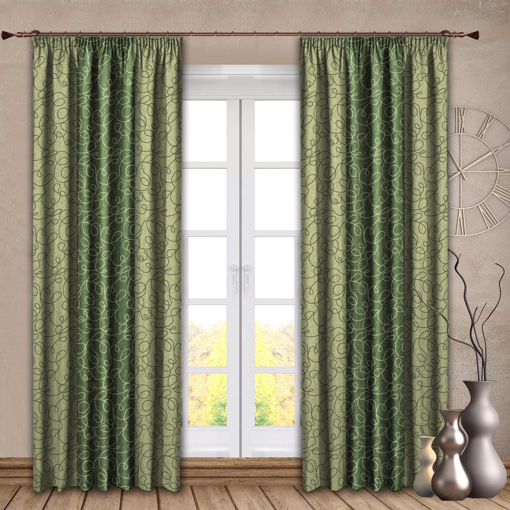 Шторы РеалТекс Классические шторы Sydnie Цвет: Зеленый шторы tac классические шторы winx цвет персиковый 200x265 см