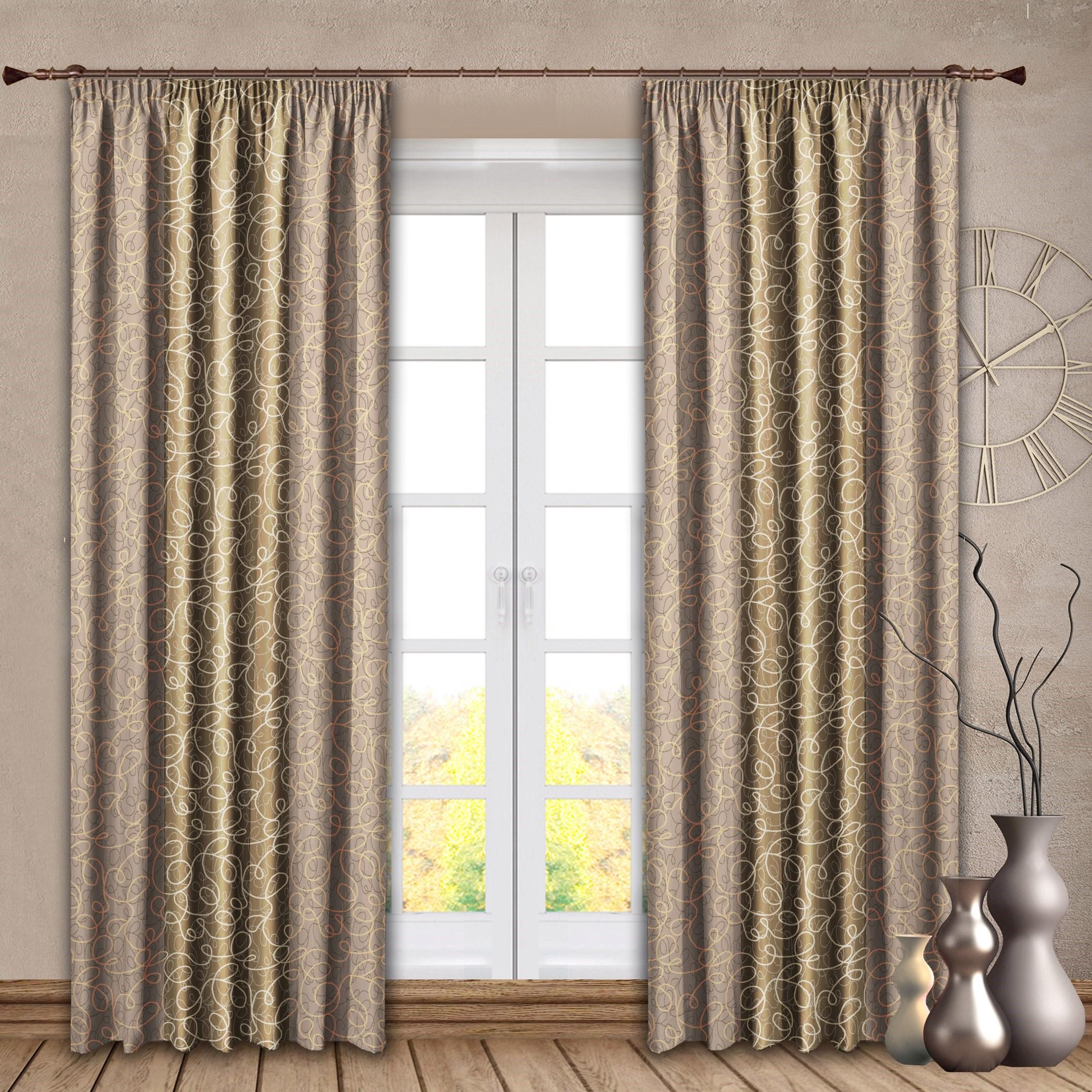 Шторы РеалТекс Классические шторы Sydnie Цвет: Золотой шторы реалтекс классические шторы alberta цвет персиковый молочный