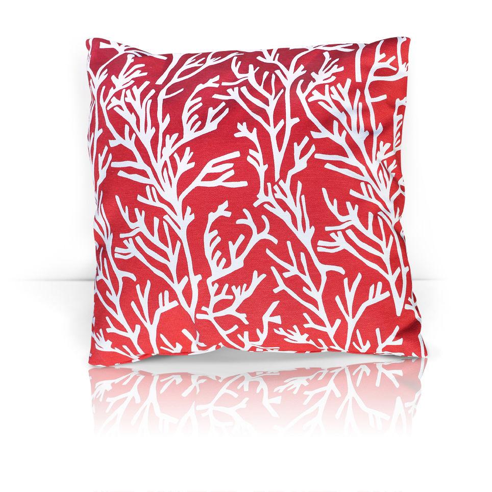 Декоративные подушки Kauffort Декоративная подушка Corals Цвет: Красный (40х40)