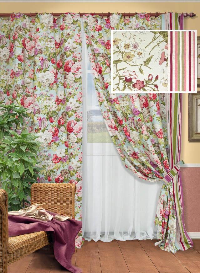 Шторы Kauffort Классические шторы Paradise-S Цвет: Розовый шторы kauffort классические шторы barolo