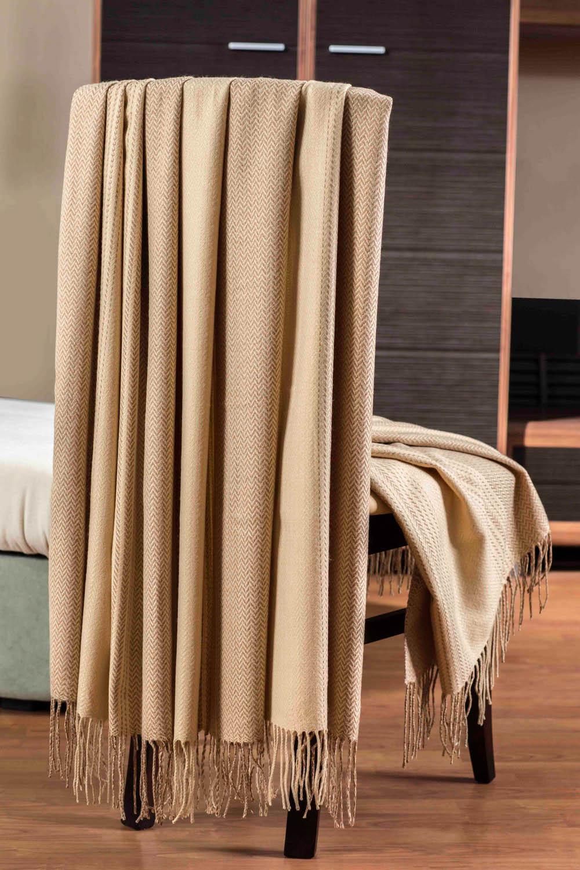 где купить Плед Primavelle Плед Bamboo Цвет: Бежевый (140x180 см) по лучшей цене