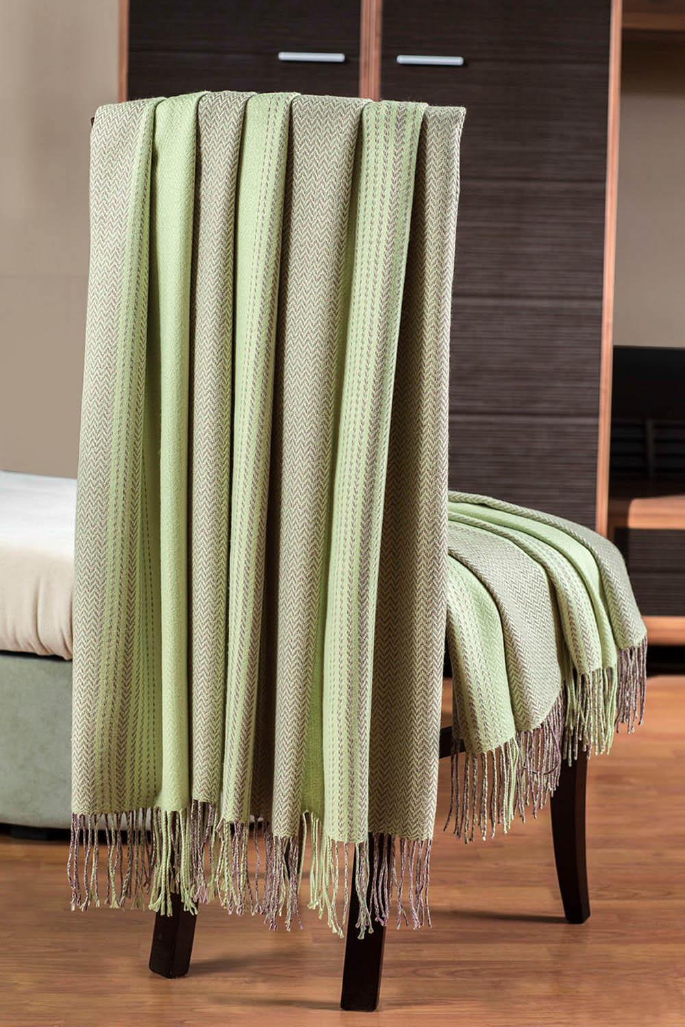 где купить Плед Primavelle Плед Bamboo Цвет: Светло-Зеленый (140x180 см) по лучшей цене