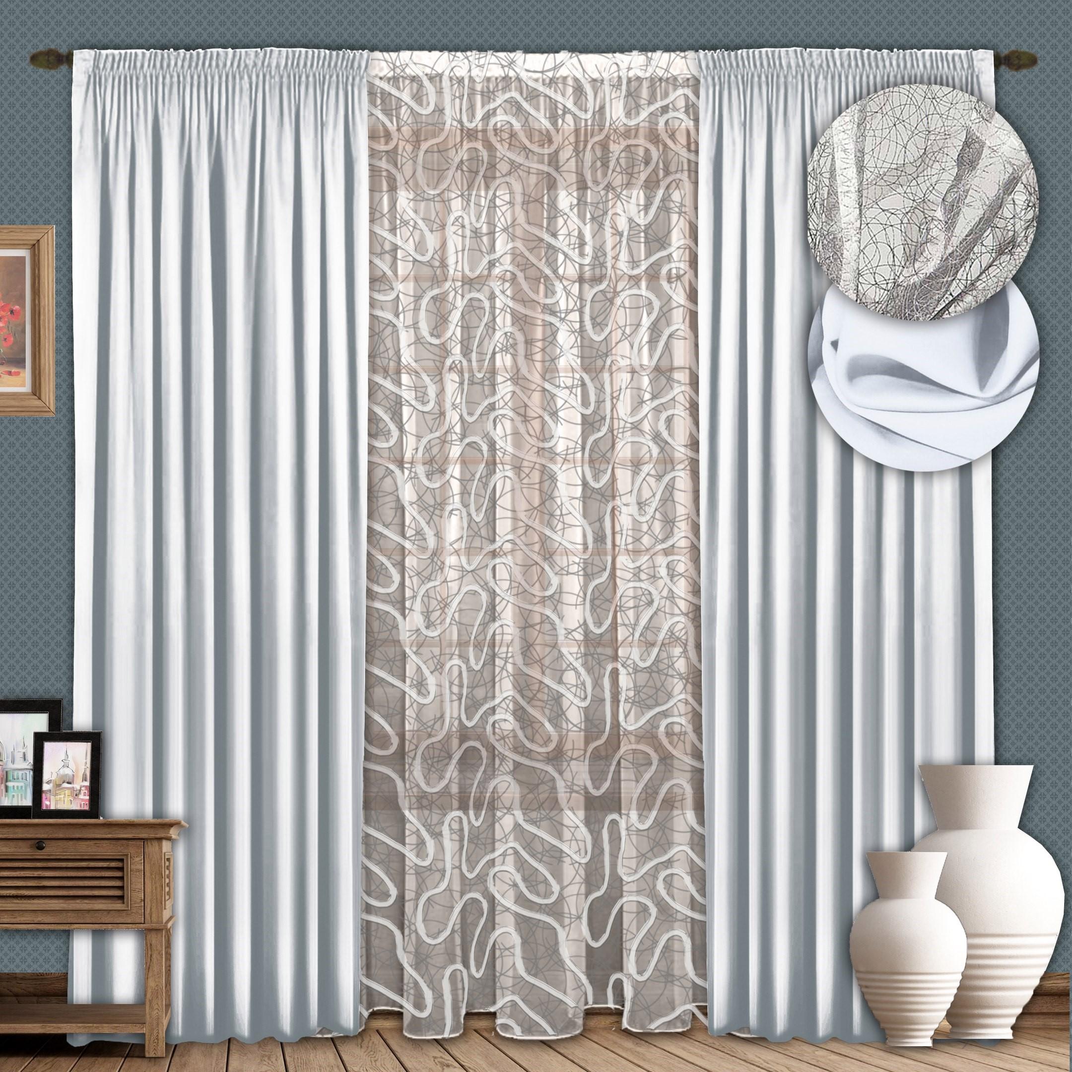 Шторы РеалТекс Классические шторы Milana Цвет: Светло-Серый шторы tac классические шторы winx цвет персиковый 200x265 см