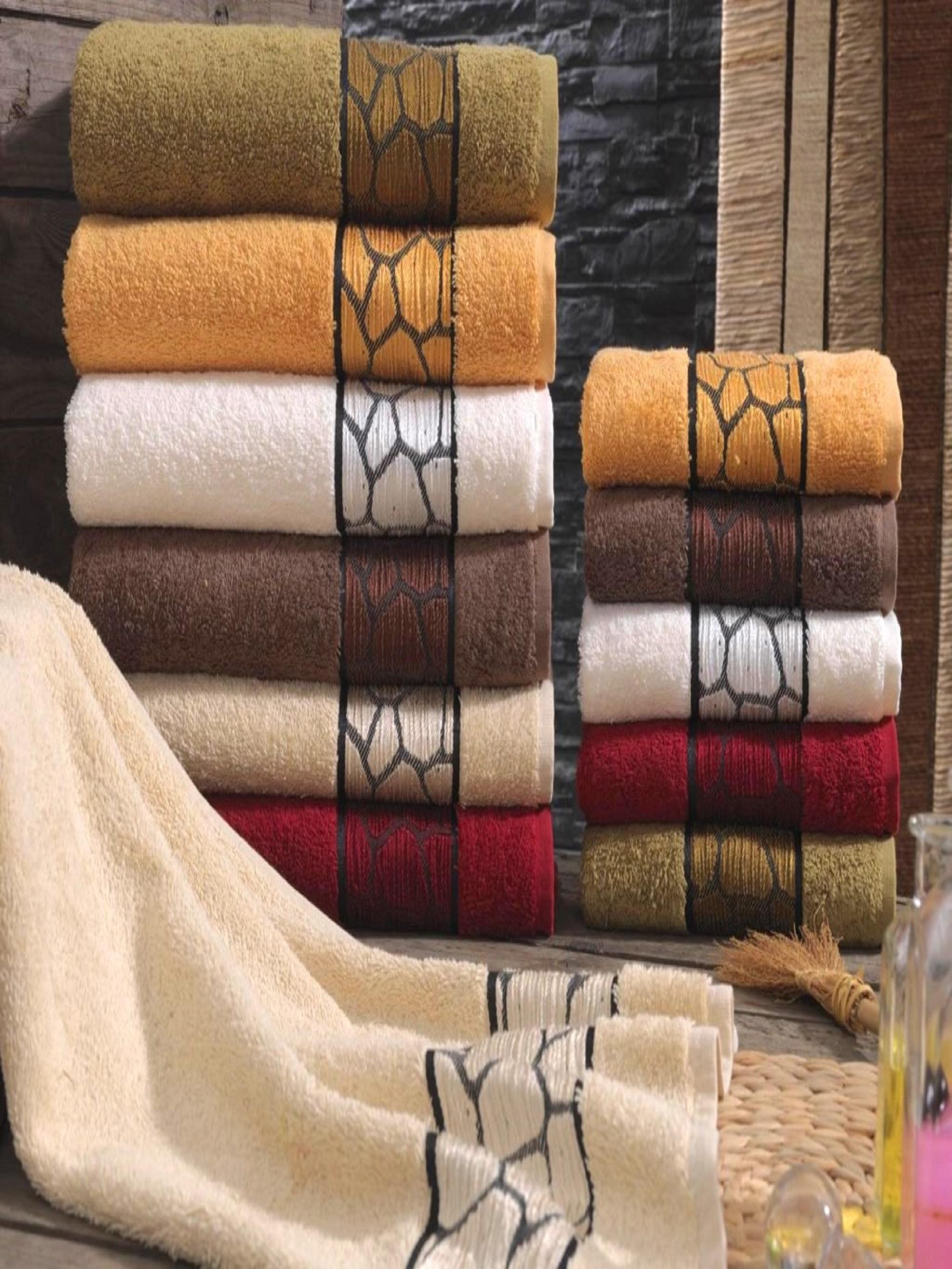Полотенца Sikel Полотенце Burushka (70х140 см - 6 шт) sikel набор из 2 полотенец nazande цвет коричневый