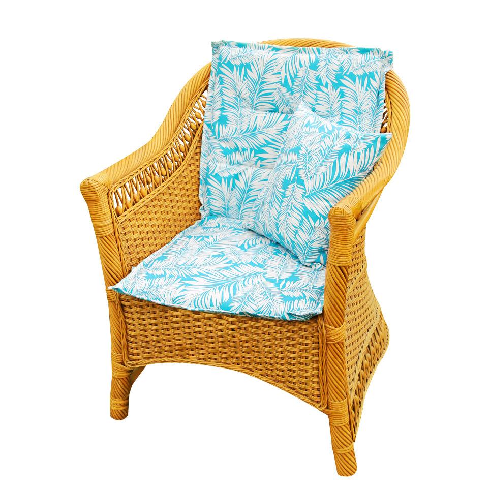 Подушки на стул Kauffort Подушка на стул Palma Цвет: Небесно-Голубой (50х100) подушка на стул арти м райский сад