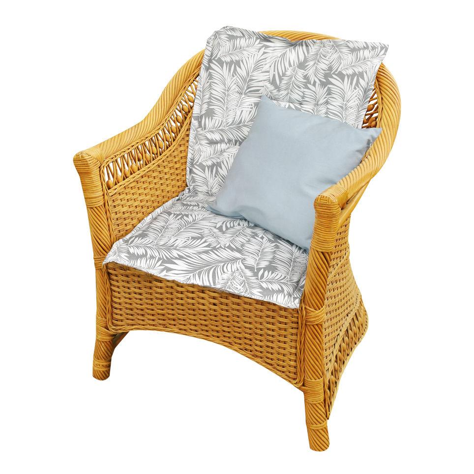Подушки на стул Kauffort Подушка на стул Palma Цвет: Серый (50х100) подушка на стул арти м райский сад