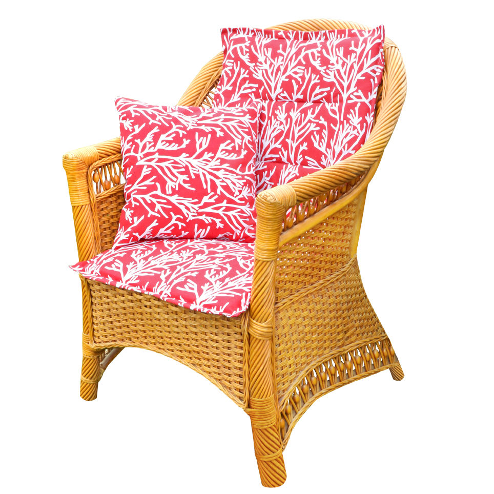 Подушки на стул Kauffort Подушка на стул Corals Цвет: Красный (50х100) подушка на стул арти м райский сад