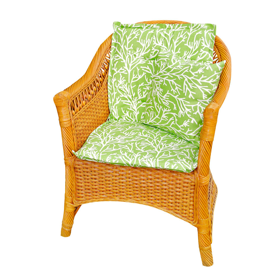 Подушки на стул Kauffort Подушка на стул Corals Цвет: Зеленый (50х100) подушка на стул арти м райский сад