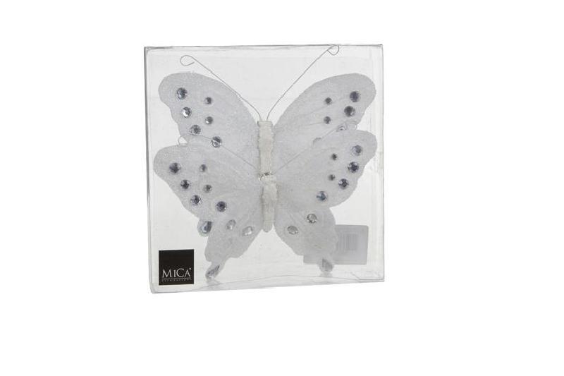 {}  Фигурка Бабочка Цвет: Белый (15 см - 2 шт) ollin professional зажимы бабочка 12 шт 2 вида зажимы бабочка 12 шт 2 вида 12 шт 55 мм