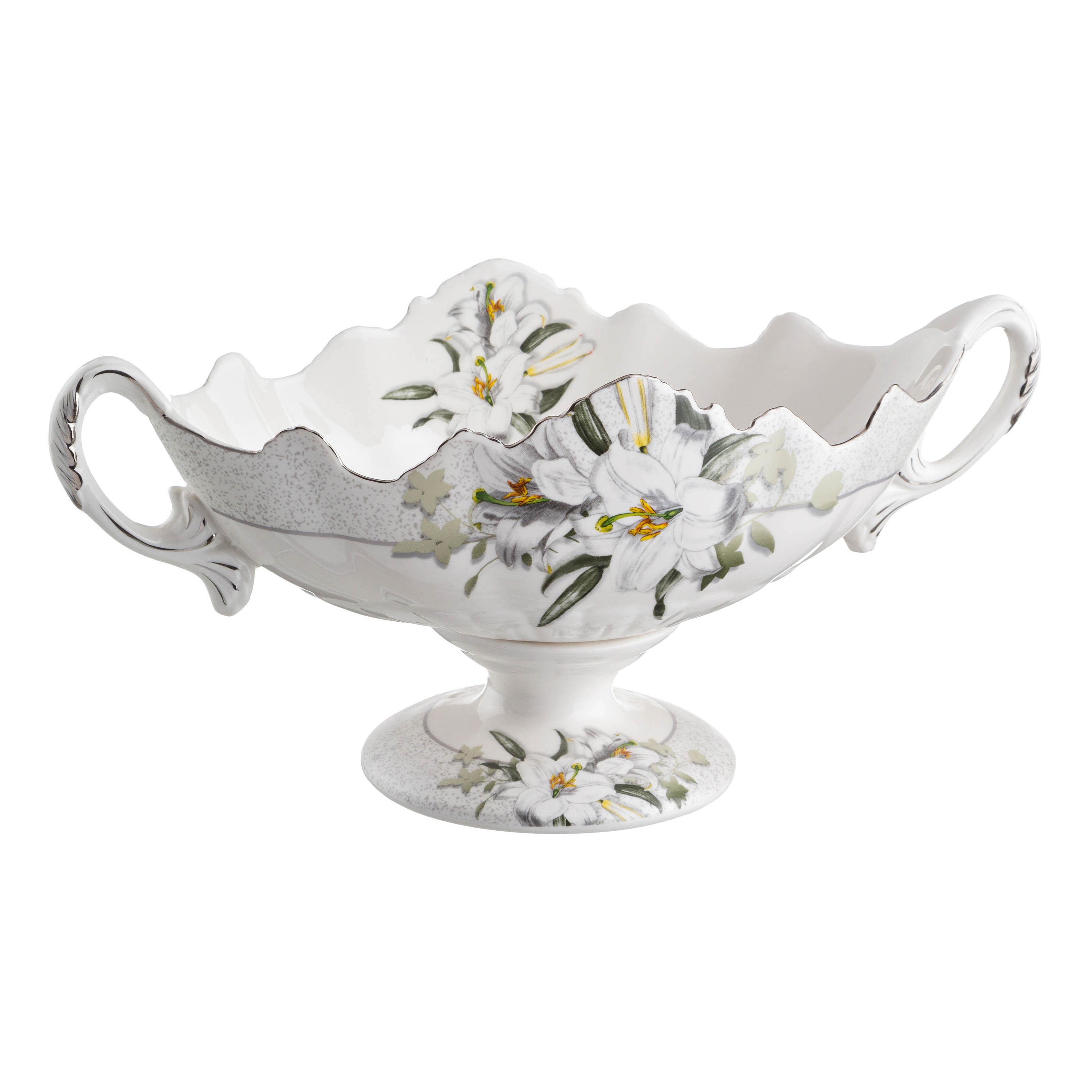 {} Lefard Ваза для фруктов Лилия (13х13х29 см) ваза керамика напольная 60 см цветущая лилия 1044984