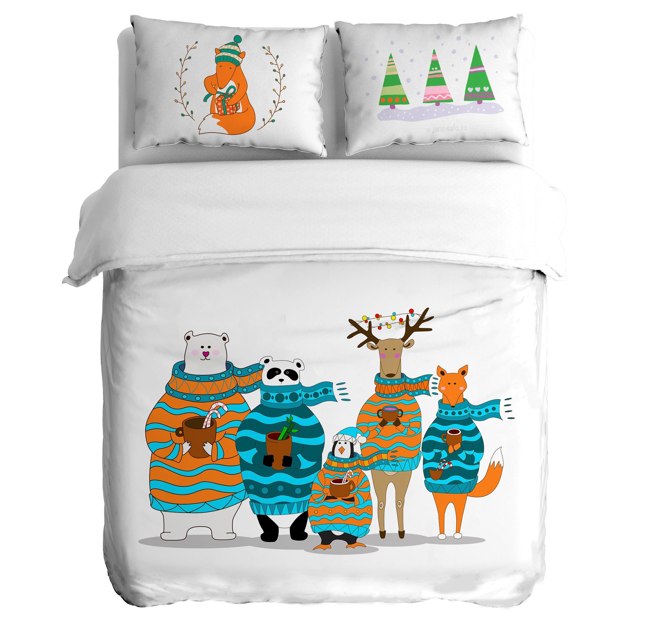 Постельное белье Peach Постельное белье Christmas buzz (1,5 спал.)