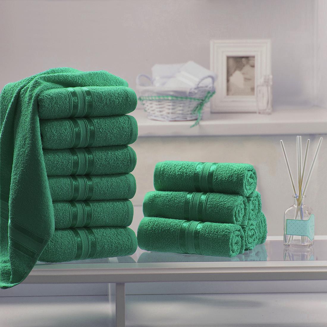 Полотенца Dome Полотенце для лица Harmonika Цвет: Изумрудный (33х50 см - 12 шт)