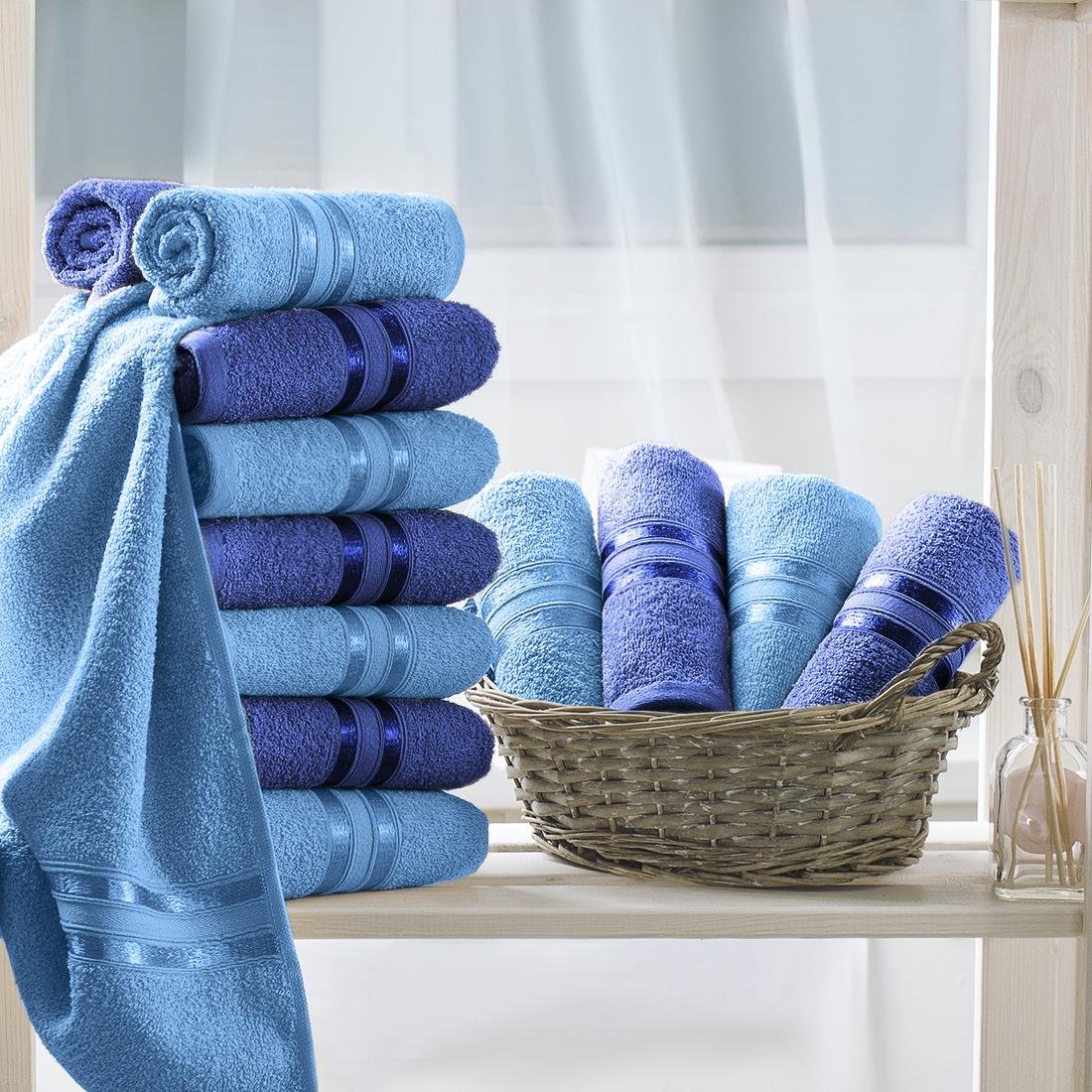 Полотенца Dome Полотенце Harmonika Цвет: Голубой/Синий (33х50 см - 12 шт)