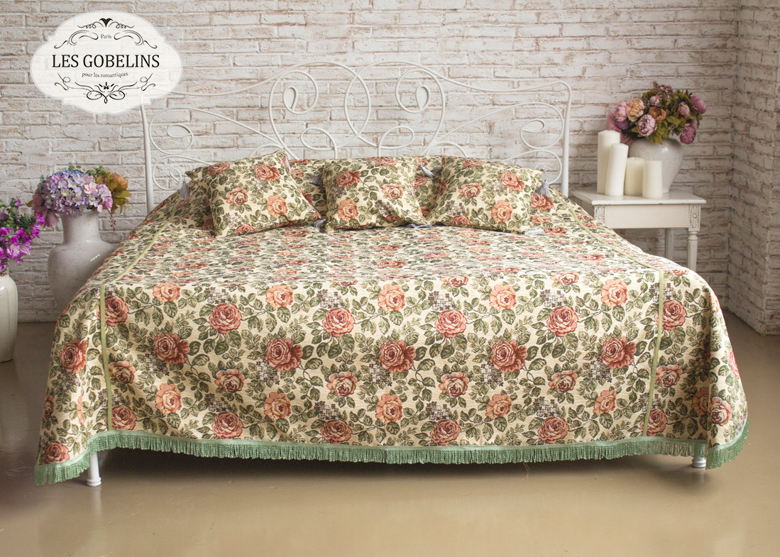 Покрывало Les Gobelins Покрывало на кровать Art Floral (160х220 см) покрывало les gobelins покрывало на кровать art floral 260х230 см