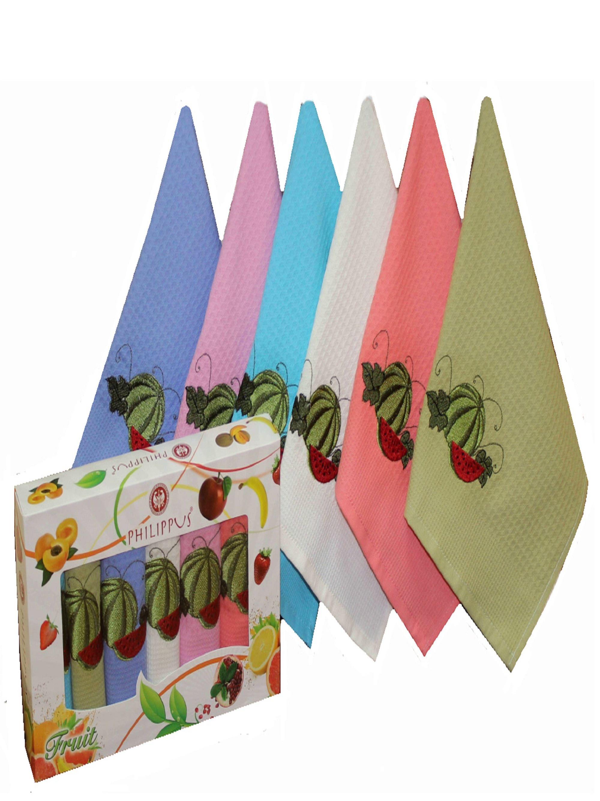 {} Philippus Кухонное полотенце Fruity V2 (30х50 см - 6 шт) полотенца philippus полотенце laura 50х90 см 6 шт