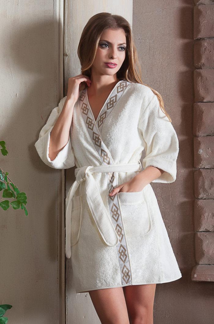 Сауны, бани и оборудование Mia-Mia Халат Regina Цвет: Ваниль (xL) домашние халаты mia mia домашний халат yesenia xl