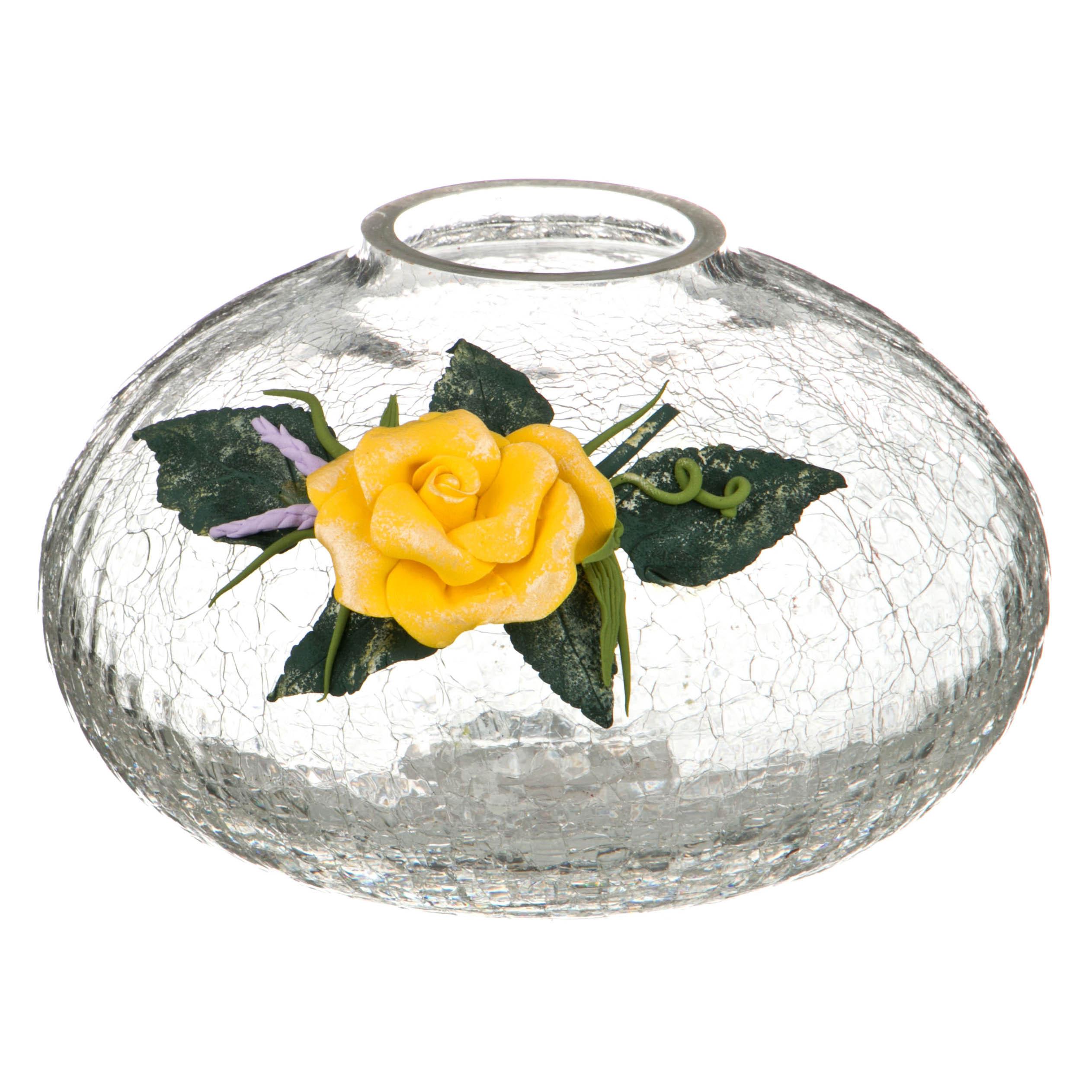 {} Arti-M Ваза Роза Цвет: Желтый (14 см) ваза сияние цвет желтый 51 см 1984744