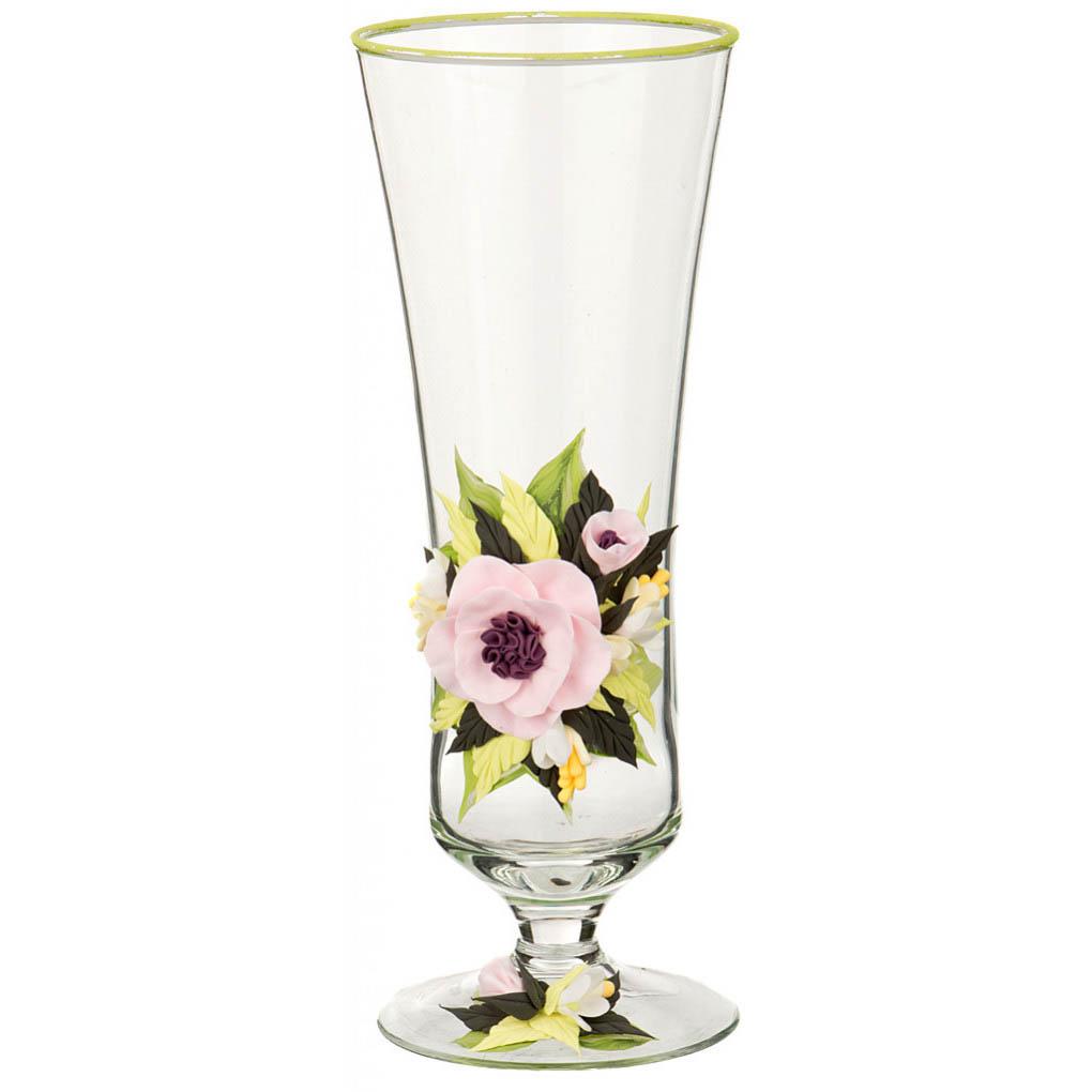 {} Arti-M Ваза Пион Цвет: Розовый (26 см) ваза прямая цвет красный 51 см 2176628