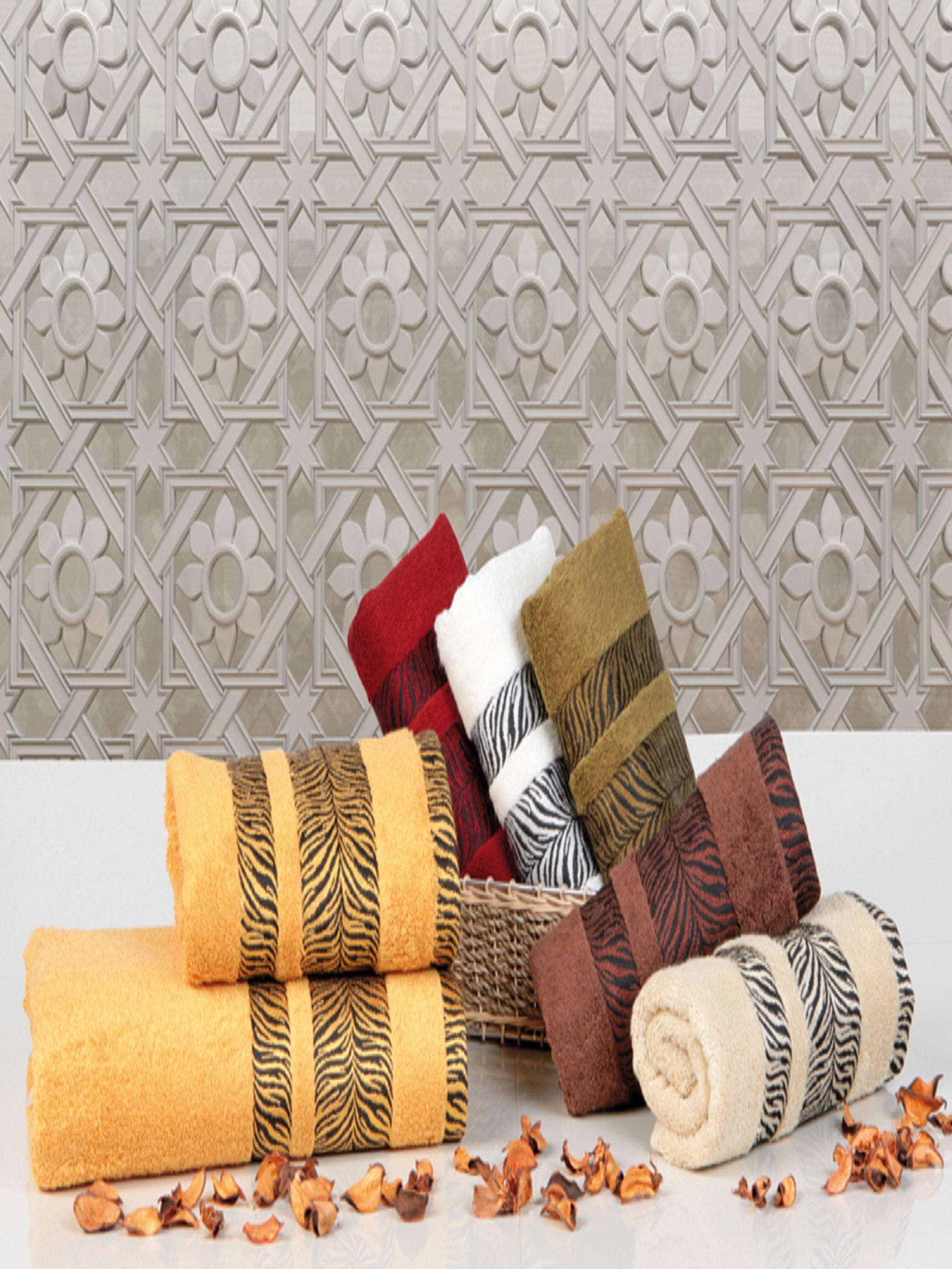 Полотенца Sikel Полотенце Зебра (70х140 см - 6 шт) sikel набор из 2 полотенец nazande цвет коричневый