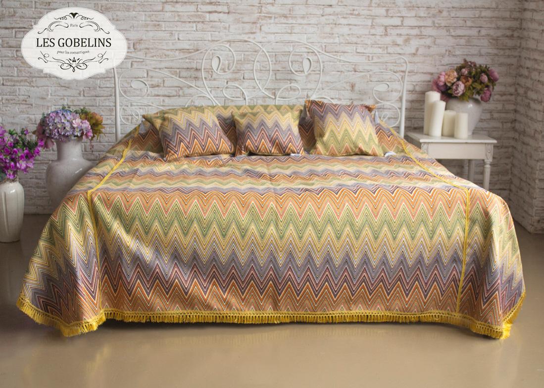 Покрывало Les Gobelins Покрывало на кровать Cordillere (230х230 см) желтое покрывало на кровать