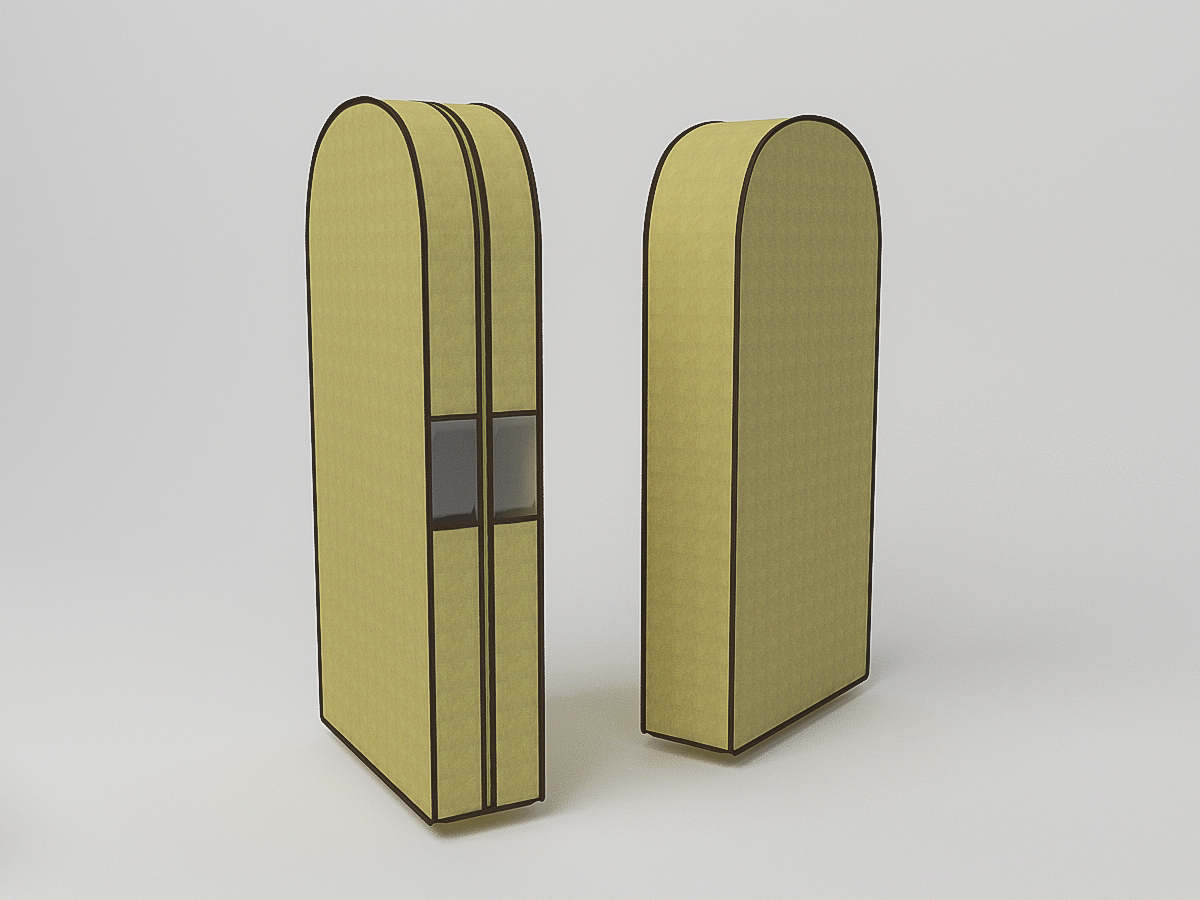 {} CoFreT Чехол для одежды Классик Цвет: Бежевый (20х60х100 см)