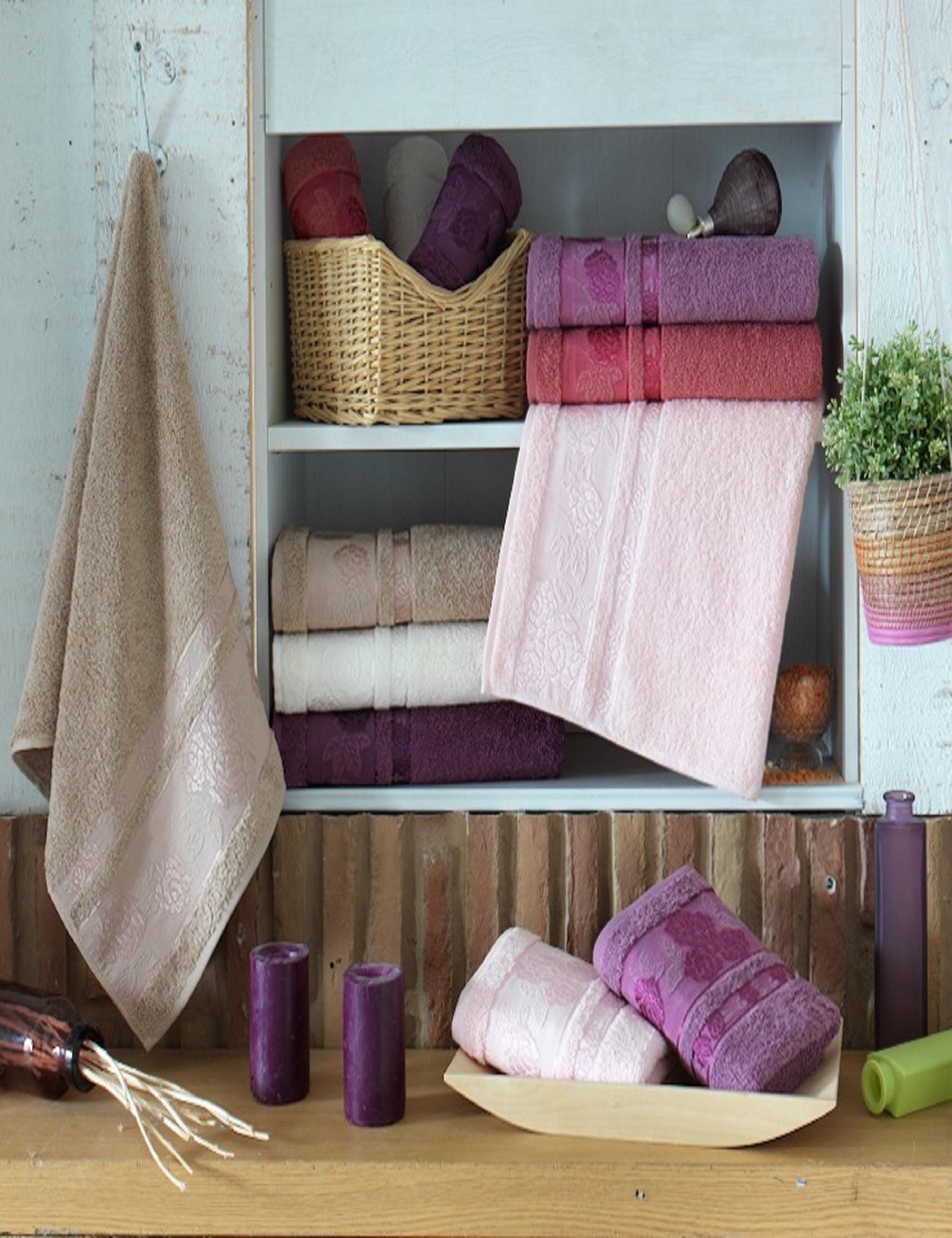 Полотенца Sikel Полотенце Rose (50х90 см - 6 шт) sikel набор из 2 полотенец nazande цвет коричневый