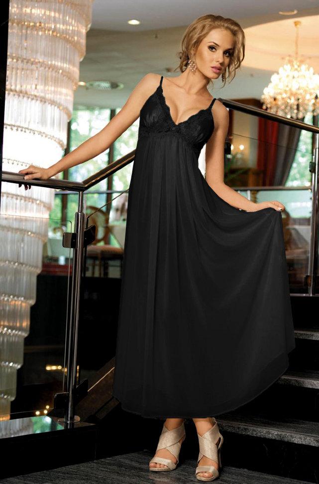 Ночные сорочки Mia-Mia Ночная сорочка Миледи Цвет: Черный S-M) сорочка и стринги soft line mia размер s m цвет белый