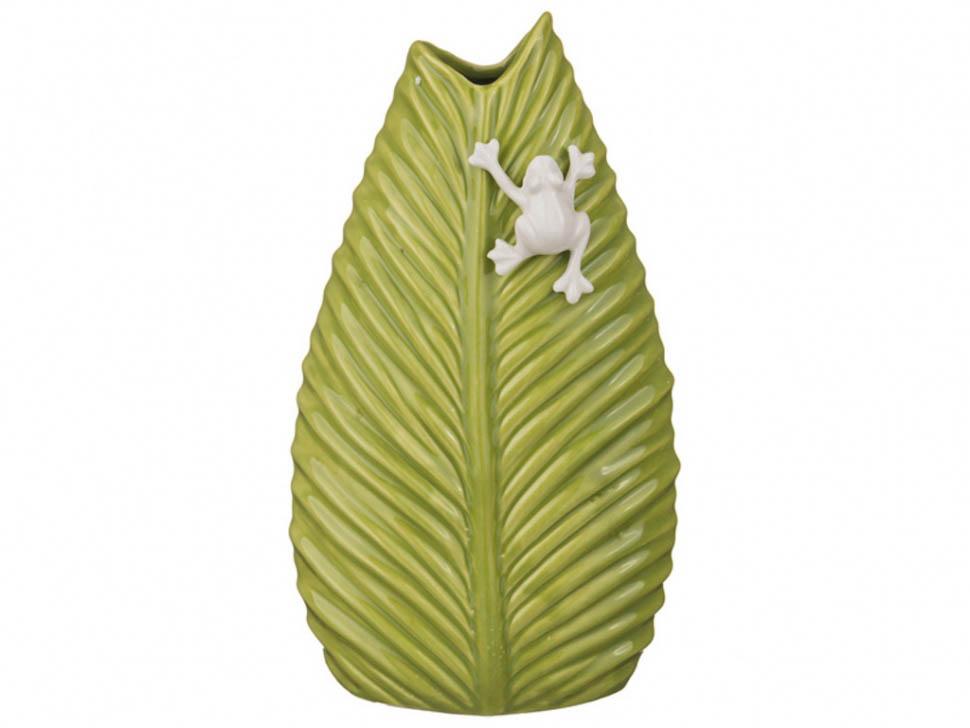 {} Arti-M Ваза Лист Цвет: Оливковый (9х14х24 см) ваза керамическая 14 х 9 х 30 см