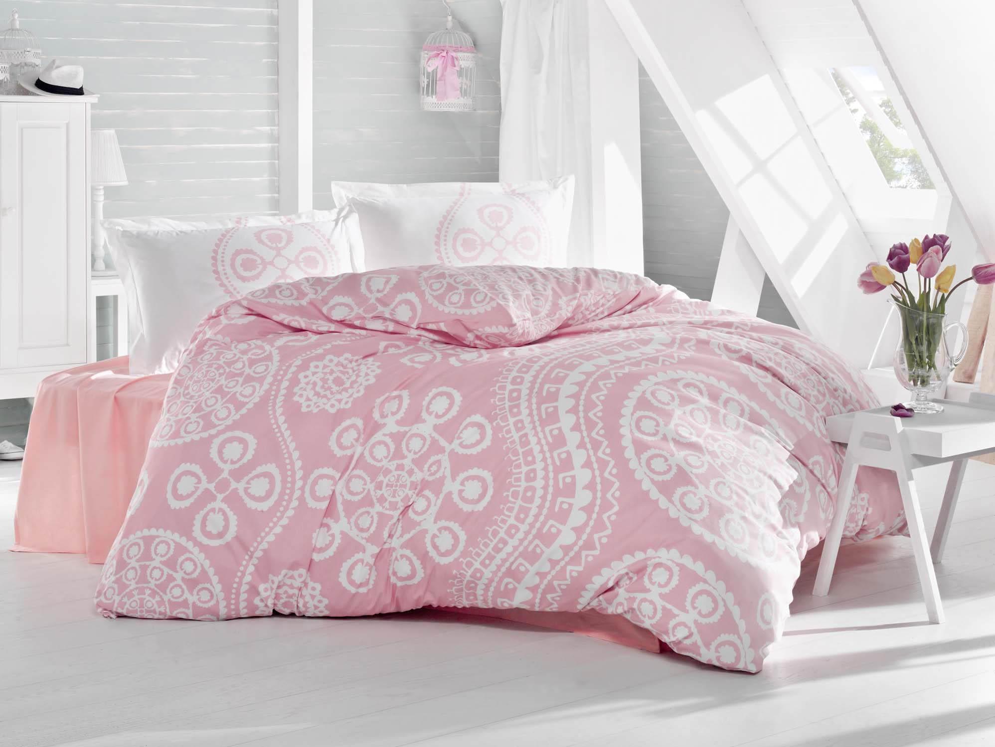 где купить Постельное белье Clasy Постельное белье Celtic Цвет: Розовый (семейное) по лучшей цене