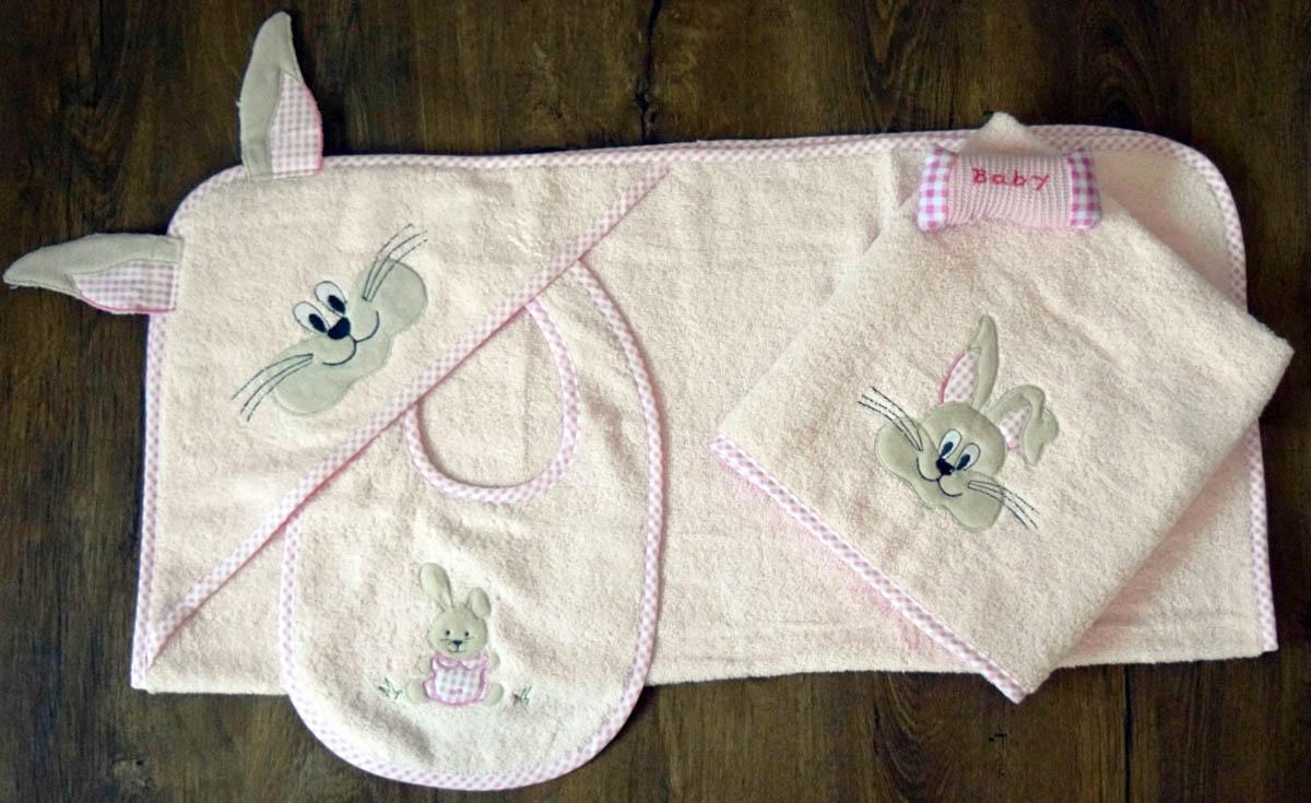 Полотенца Arya Детское полотенце Rabbit With Ears Цвет: Розовый (0-2 года)