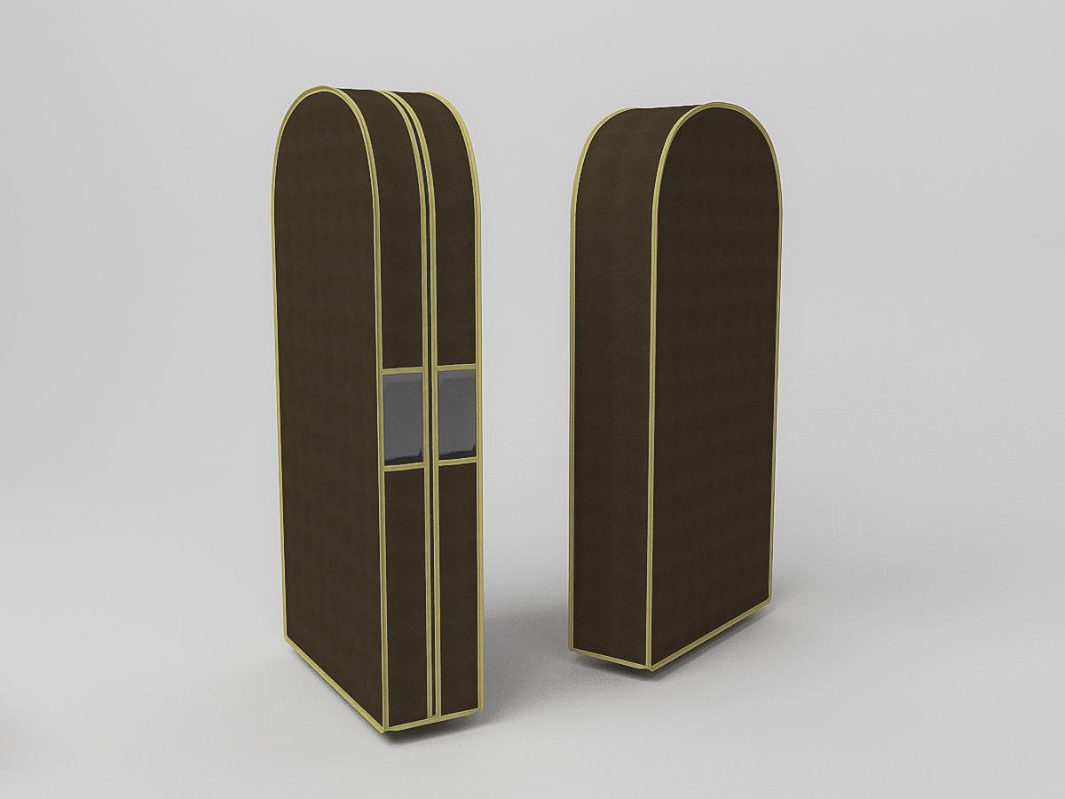{} CoFreT Чехол для одежды Классик Цвет: Коричневый (20х60х100 см)