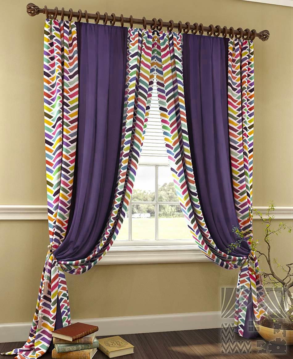 Шторы ТомДом Классические шторы Грейт Цвет: Фиолетовый