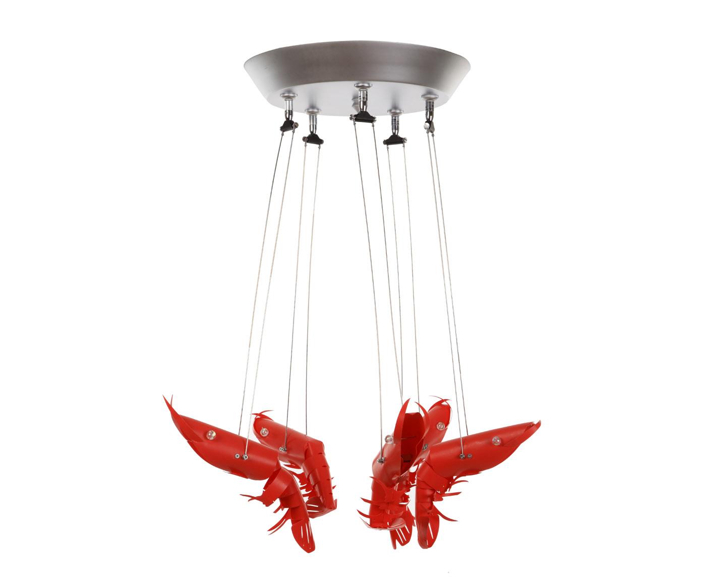 {} Crystal Light Светильник потолочный Каракатицы Цвет: Красный (32х50 см)