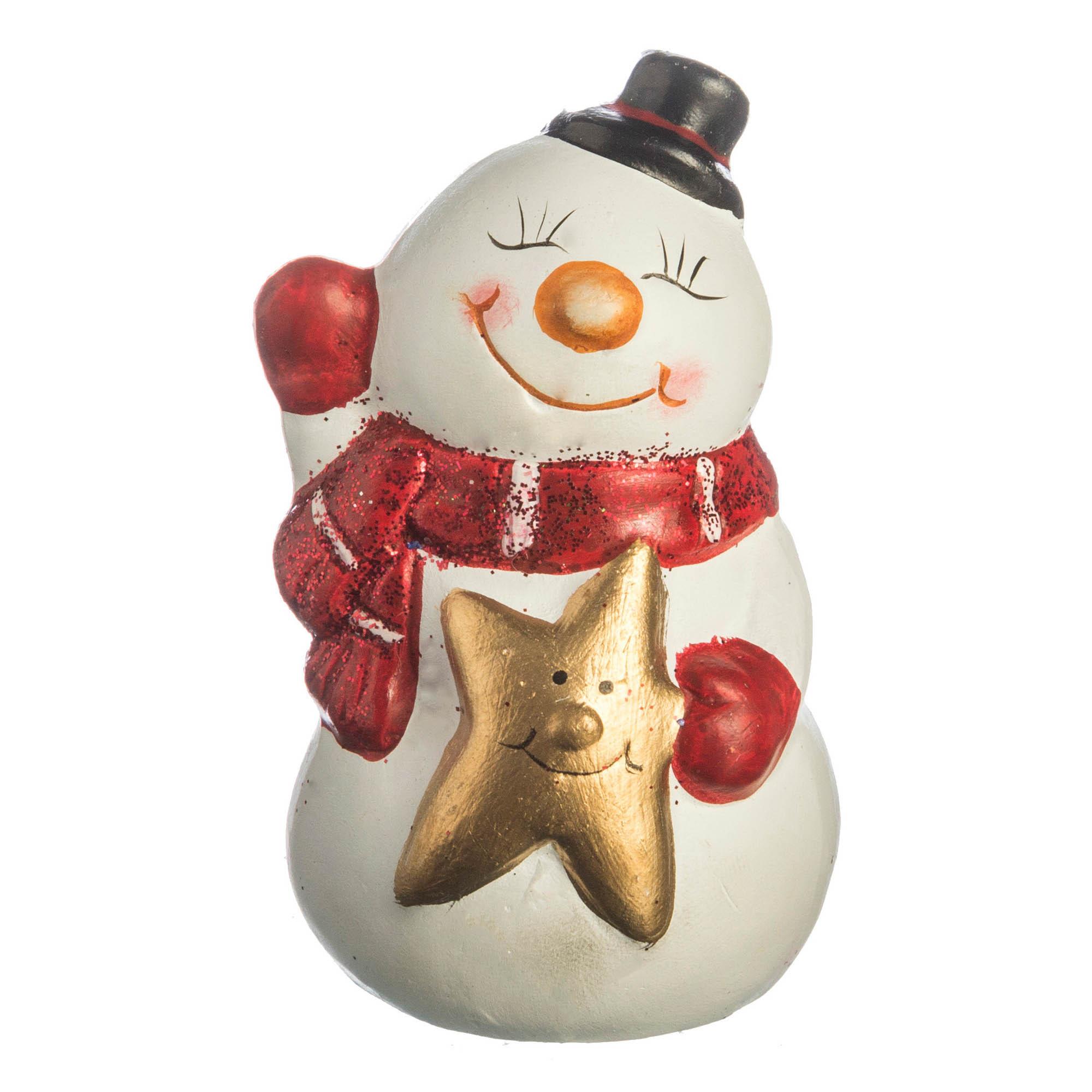{} Lefard Интерьерная игрушка Снеговик (5х6х9 см) миниатюра снеговик цвет серебристый 6 5 см