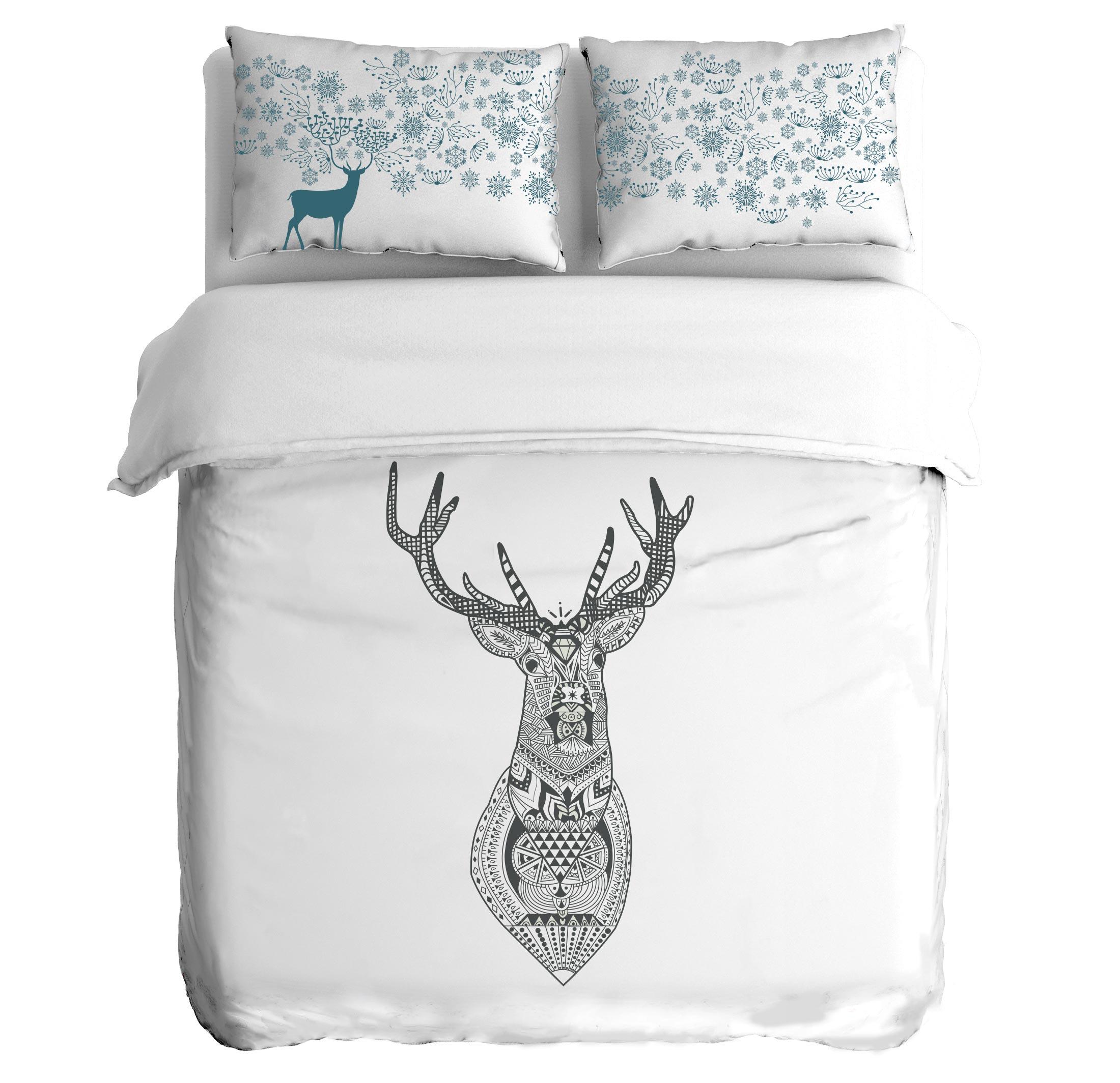 Постельное белье Peach Постельное белье Reindeer (2 сп. евро) постельное белье мартекс постельное белье микрофибра 5d евро роза букет