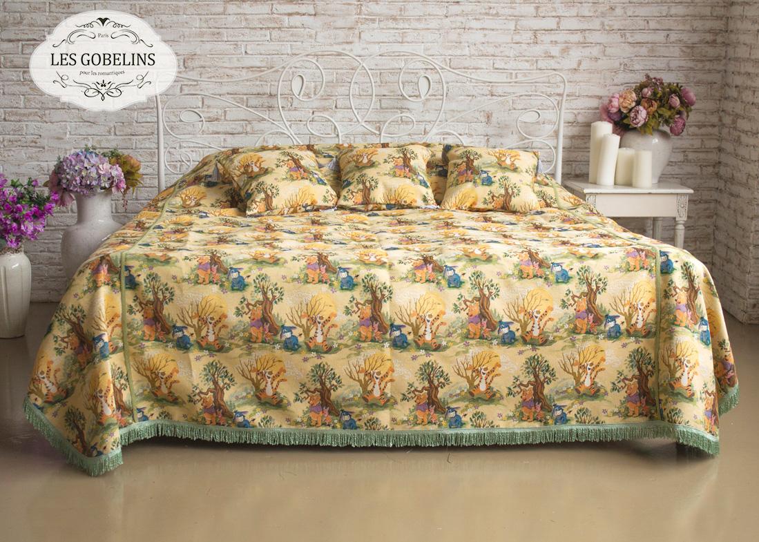 где купить Детские покрывала, подушки, одеяла Les Gobelins Детское Покрывало на кровать Winnie L'Ourson (130х220 см) по лучшей цене