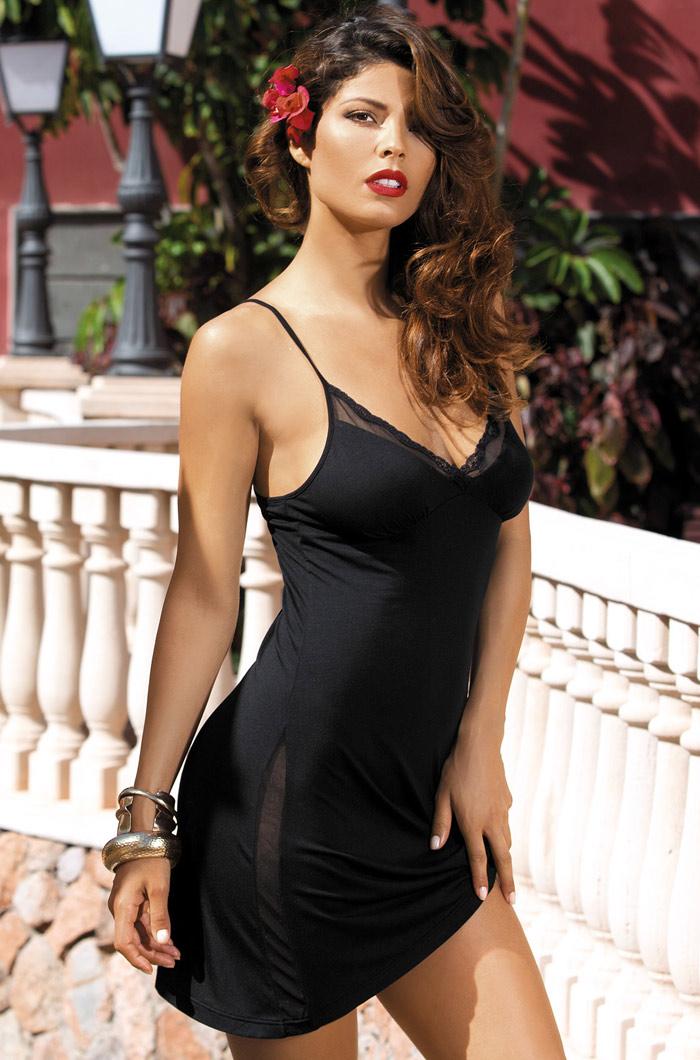 Ночные сорочки Mia-Mia Ночная сорочка Karmen Цвет: Черный (xS) ночные сорочки mia mia ночная сорочка миледи цвет черный m