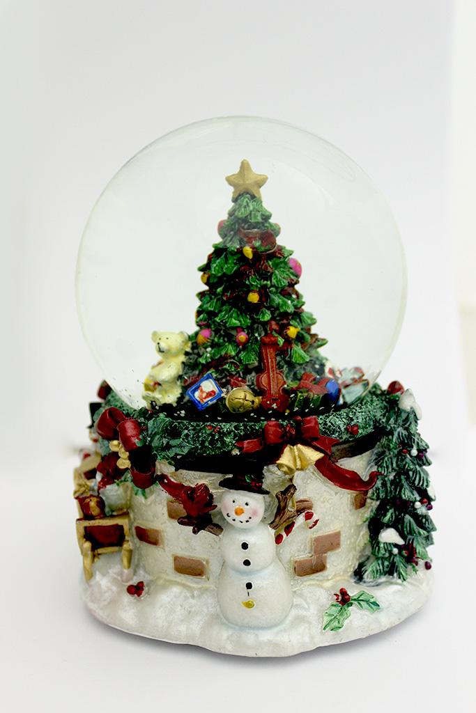 {}  Снежный шар Новогодняя ёлка (18х18 см) новогодняя ёлка