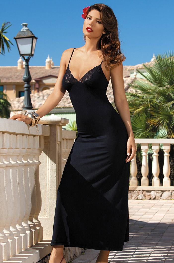 Ночные сорочки Mia-Mia Ночная сорочка Karmen Цвет: Черный (S) ночные сорочки linse ночная сорочка