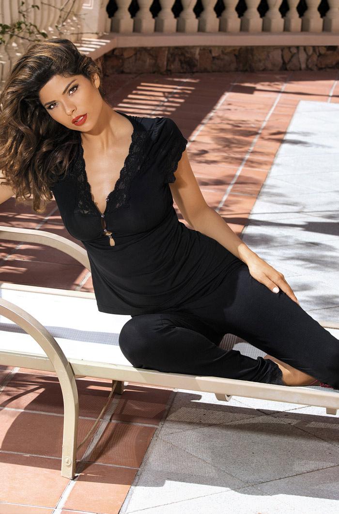Пижамы Mia-Mia Пижама Karmen Цвет: Черный (xL) пижамы mia cara пижама paulina цвет сиреневый s