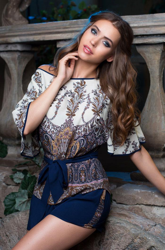Костюмы для дома и отдыха Mia-Mia Костюм для дома Shakira Цвет: Синий (M) пижама жен mia cara майка шорты botanical aw15 ubl lst 264 р 42 44 1119503
