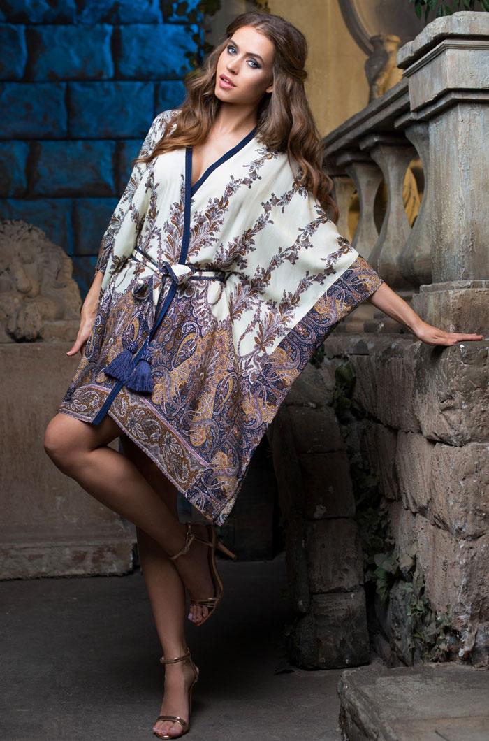 Домашние халаты Mia-Mia Домашний халат Shakira Цвет: Синий (L) домашние халаты vivien домашний халат funny l