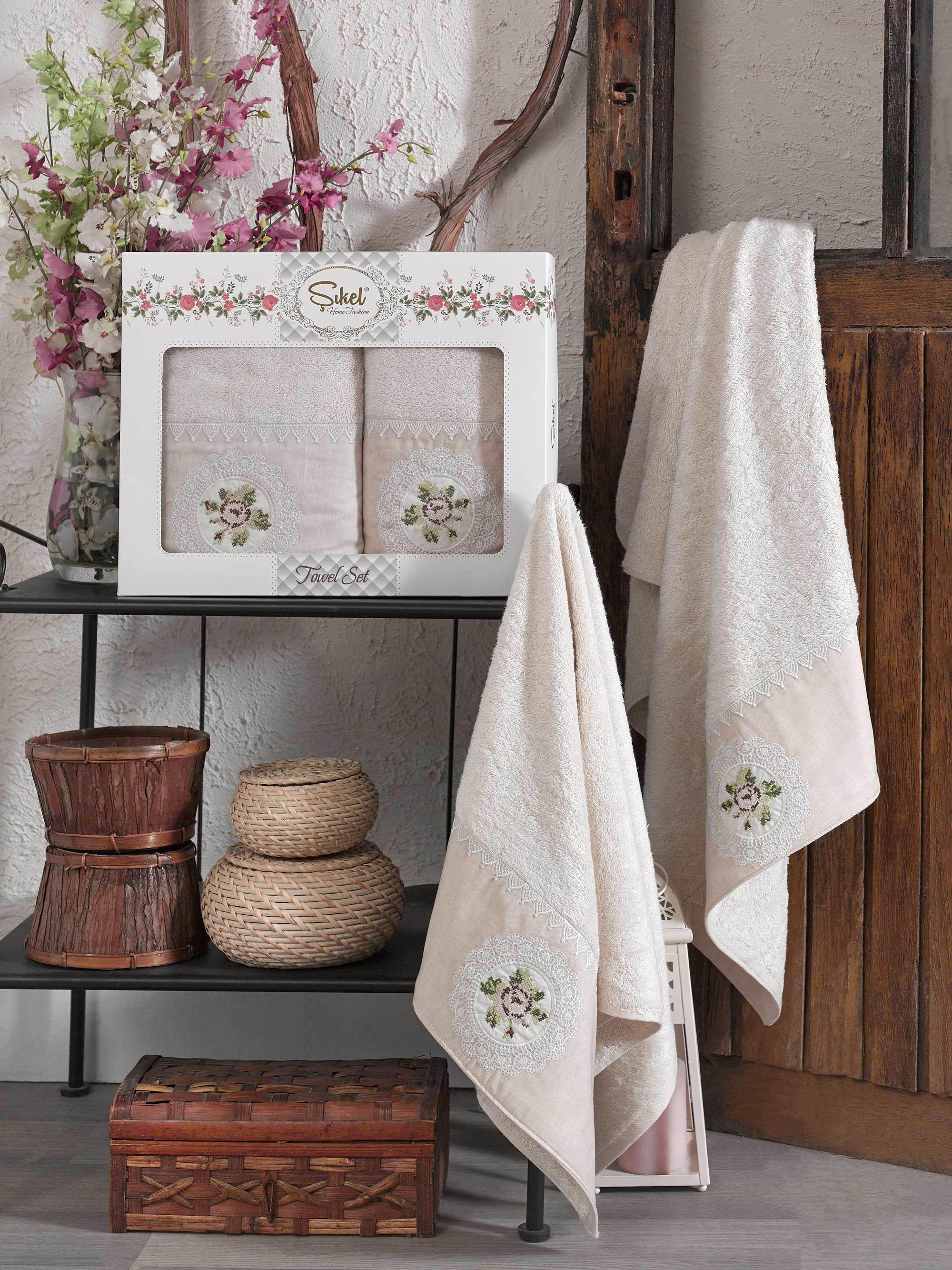 Полотенца Sikel Полотенце Kanevice Цвет: Бежевый (50х90 см,70х140 см) полотенца sikel полотенце kanevice цвет пудра 50х90 см 70х140 см