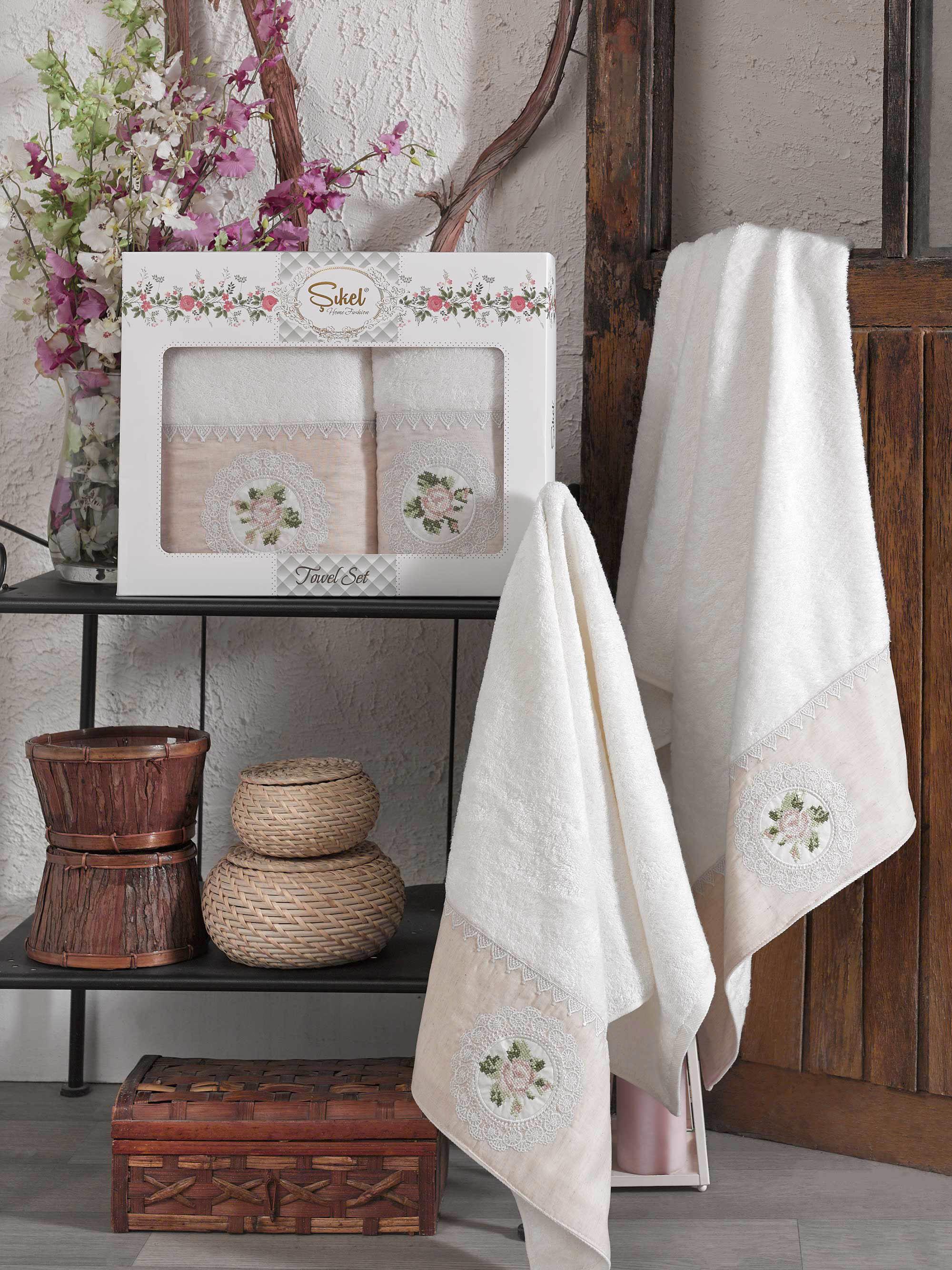 Полотенца Sikel Полотенце Kanevice Цвет: Кремовый (50х90 см,70х140 см) полотенца sikel полотенце kanevice цвет пудра 50х90 см 70х140 см