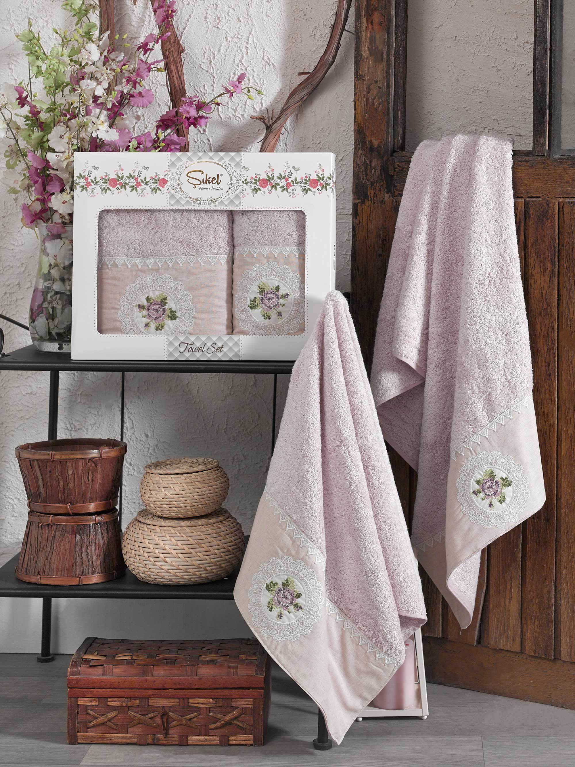 Полотенца Sikel Полотенце Kanevice Цвет: Лиловый (50х90 см,70х140 см) полотенца sikel полотенце kanevice цвет пудра 50х90 см 70х140 см