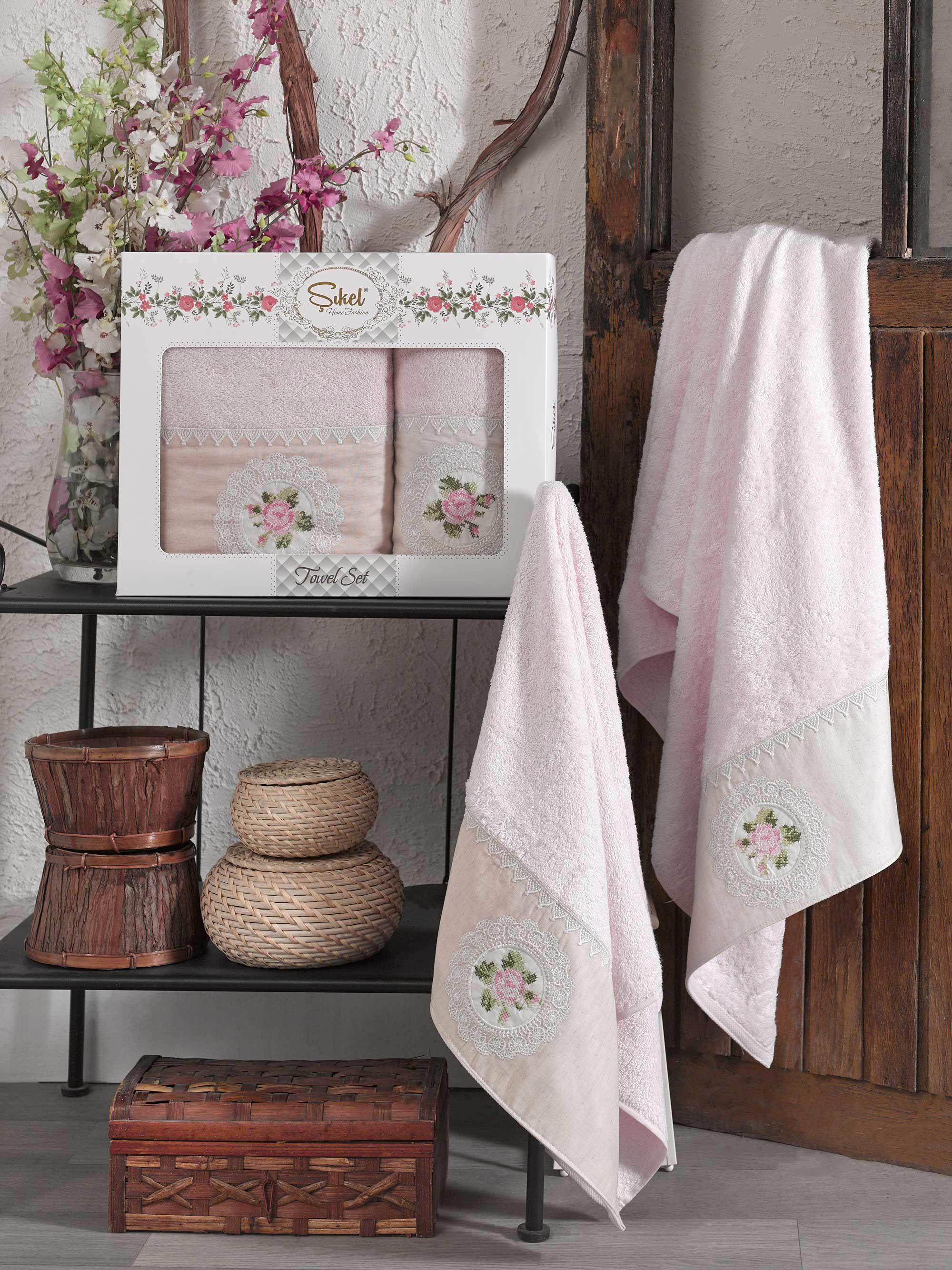 Полотенца Sikel Полотенце Kanevice Цвет: Персиковый (50х90 см,70х140 см) полотенца sikel полотенце kanevice цвет пудра 50х90 см 70х140 см