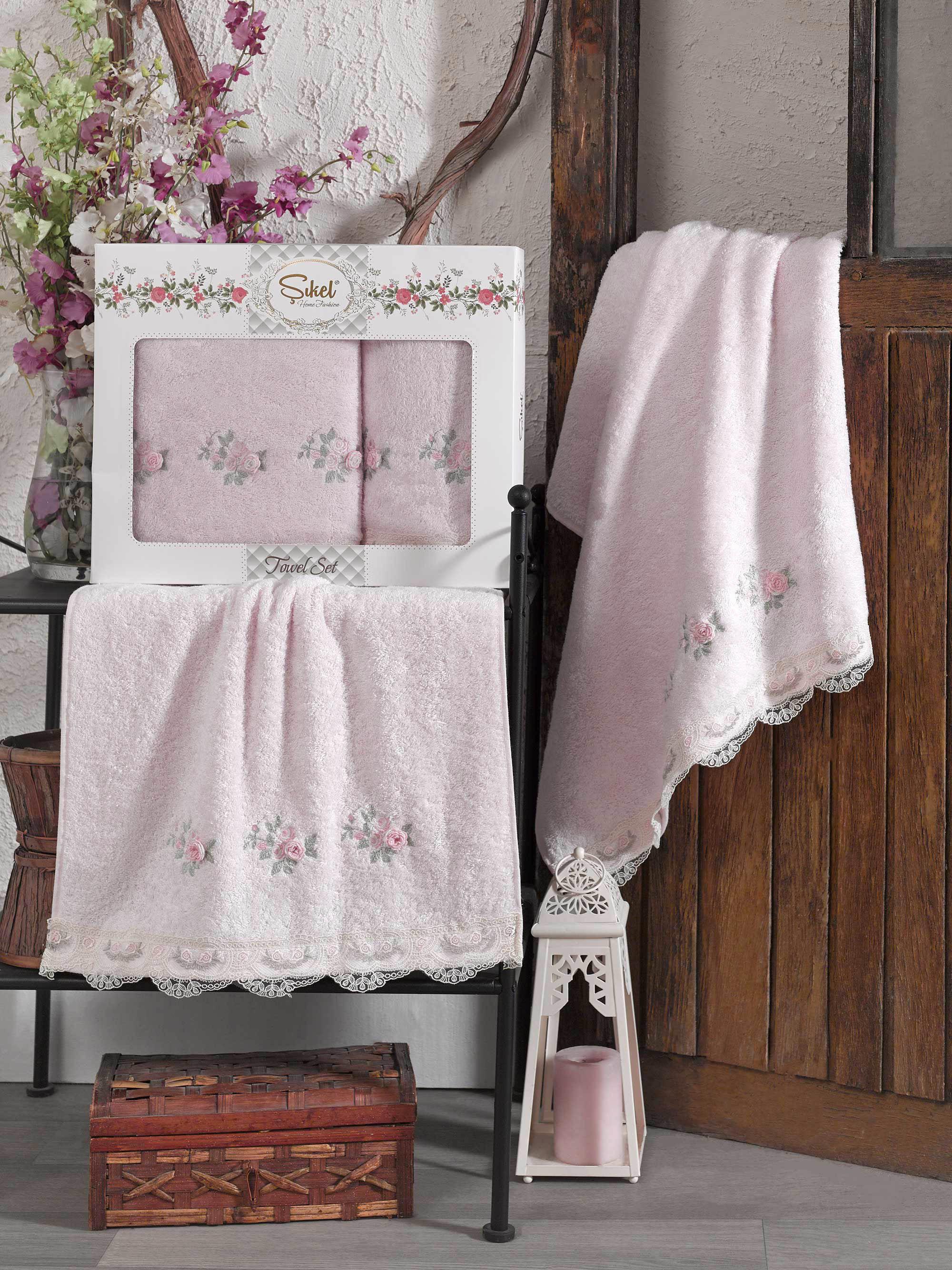 Полотенца Sikel Полотенце London Цвет: Розовый (50х90 см,70х140 см) sikel набор из 2 полотенец nazande цвет коричневый