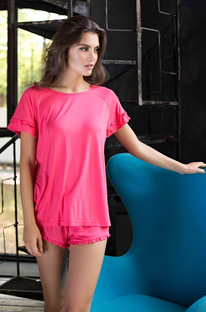 Пижамы Mia-Mia Пижама Gemma Цвет: Коралловый (xS) пижама женская футболка шорты mia cara portugal цвет слоновая кость бирюзовый aw16 mc 813 размер 50 52