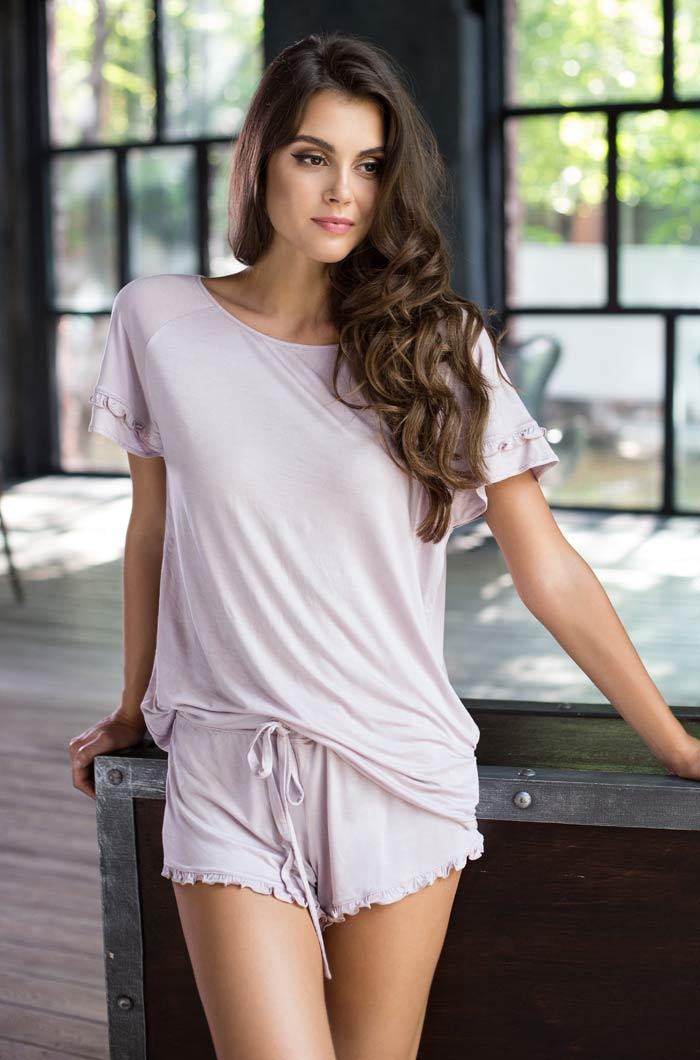 Пижамы Mia-Mia Пижама Gemma Цвет: Лаванда (xS) пижама женская футболка шорты mia cara portugal цвет слоновая кость бирюзовый aw16 mc 813 размер 50 52